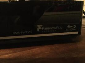 Panasonic Blu-Ray Disc Player HDD Recorder DMR-PWT550. Receipt, Remote, Operating Ins.