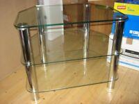 Hygena Matrix Glass TV Hifi Unit