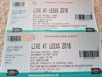 2 VIP admission tickets for Live at Leeds for Saturday 5th May 2018 just £50 each!
