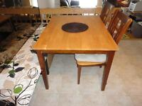 Dinning table with 4 chairs (solid wood)