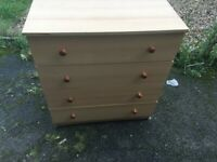 Chest of drawers 77cm x 85cm x 41cm FREE DELIVERY IF LOCAL