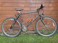 Marin Bear valley retro bike, 26 inch wheels, 21 inch frame, 21 gears, black