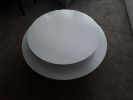 Habitat white gloss occasional table