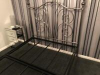 4x6 pewter metal double bed frame
