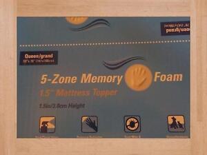 Mattress Topper 5 Zone Memory Foam Queen Size New in Box