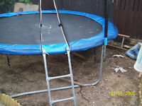10ft Trampoline . With ladders,Safety Net, Cover. Very good condition