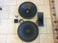 "Bass speakers x 2 15"""