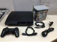 PS3 120GB with wireless controller &7x games