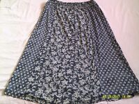 Fat Face long floral skirt. VGC. Size large. Great for the summer.