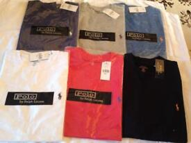 Ralph Lauren men's t shirt round neck small pony short sleeves 6 colours sizes S to XL 2 for 25