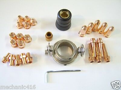 33 Pc 60 Amp Deluxe Consumable Kit Eastwood Versa Cut Plasma Cutter Torch Read