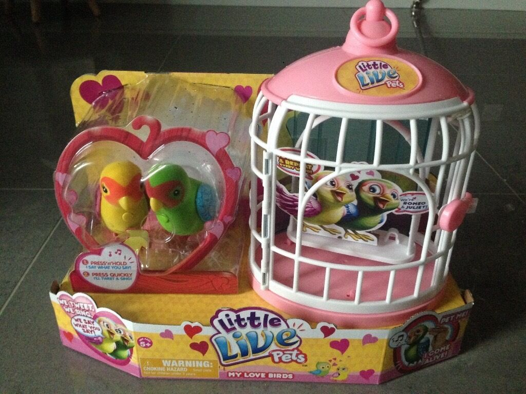 Rocking crib for sale doncaster - Brand New Little Live Pets Toys Love Birds