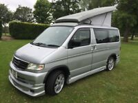 Mazda bongo friendee camper van 2000 model 2 berth 1 year mot legal for two Carrie for people with