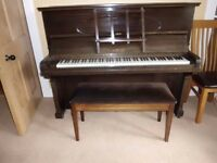 upright piano & stool