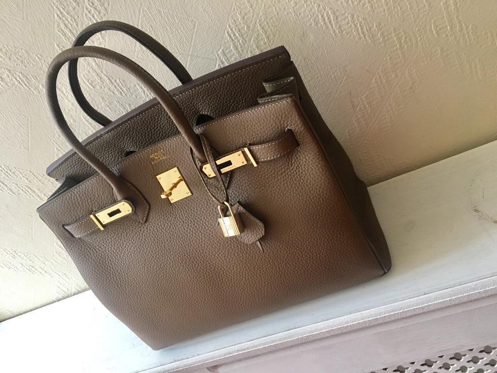 Hermes Taupe colour Birkin bag