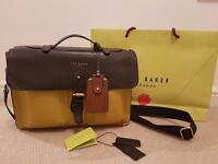 Ted Baker messenger satchel bag - 100% Leather - New like condition - CAN POST