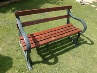 quality cast iron bench ( quality ) with wooden slats and bolts