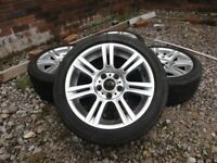 BMW STAGGERED ALLOY WHEELS WITH TYRES M.SPORT ALLOY WHEELS
