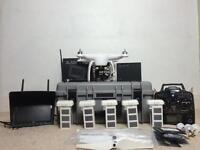 DJI phantom 2 H3-3D Gimbal Range Extender Futaba T8J Controller Drone Extras data link