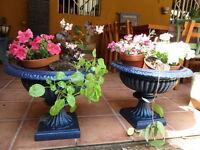 Jardineras De Hierro Fundido Antiguas Restauradas En Color Azul / Antique Fused -  - ebay.es