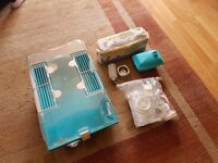 Small plastice dwarf hamster cage with accessories