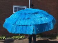 PARASOL EXTRA LARGE. 1.90 MTRS DIAMETER ELECTRIC BLUE