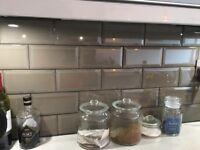Dark Grey Ceramic Metro Tiles