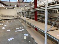 JOB LOT apex industrial long span shelving as new ( pallet racking , storage)