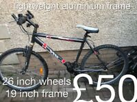 Lightweight mountain bike aluminium bike