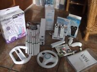 Nintendo Wii Mario Kart Pack plus motion sensor and lots of other accessories