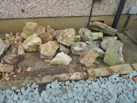 ALMOST ALL GONE!! FREE rockery stones and hardcore