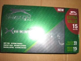 Brand New In Sealed Box Slazenger Xtreme 15 White One Size Soft Extreme Distance Golf Balls
