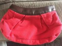 Small red make up bag