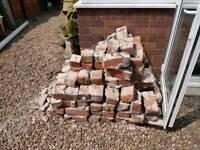 Used bricks (hardcore) and x4 concrete posts