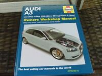 Haynes Owners Workshop Manual for Audi A3 2003 to 2008 Reg Petrol and Diesel