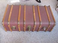 Vintage Travel or Storage Trunk from the 60s or 70s Good Condition with locks and key
