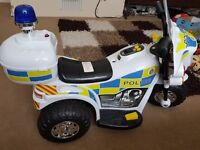 childrens electric police bike