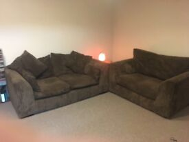 2 seater sofa and cuddle chair £70
