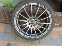 4 alloy wheels/tyres multi fit used bargain