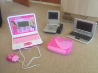 Barbie laptop portable DVD and notebook