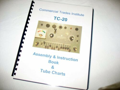 CTI Tube Tester Manual + Data Charts, Choose TC-10 or TC-20, Commercial Trades