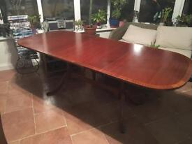 Large exendable dining table