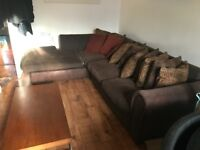 Sofas, Oak Coffee table, Glass Sideboard, large fish tank with brand new fish tank cabinet