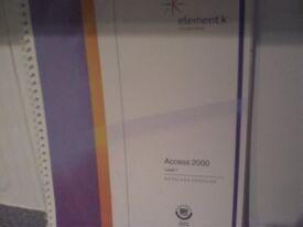 Student manual- Microsoft Access 2000 level 1 Element K courseware