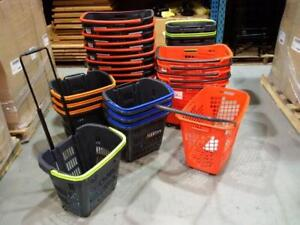 Various Rolling Baskets and Shopping Baskets