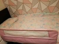 Pink lindam bed guard