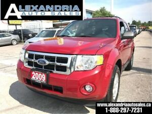 2009 Ford Escape XLT/LEATHER/SUNROOF/128Km/safety included