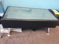Black Frosted Glass Coffee Table