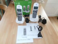 AS NEW . DORO. Phone-Easy 100 w TWIN. Cordless Phone.