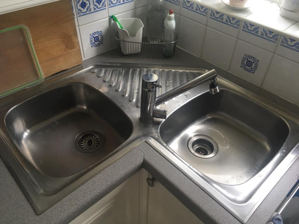 Franke Stainless Steel Corner Sink In Brighton East
